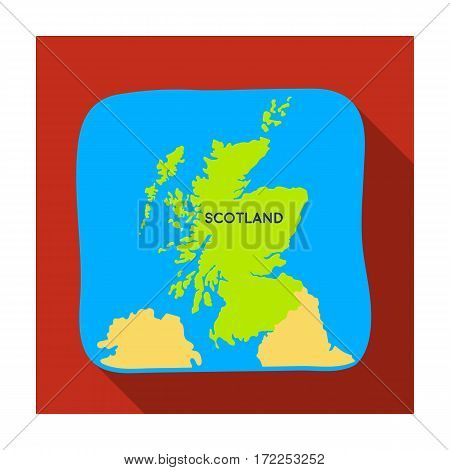 Territory of Scotland icon in flat design isolated on white background. Scotland country symbol stock vector illustration.