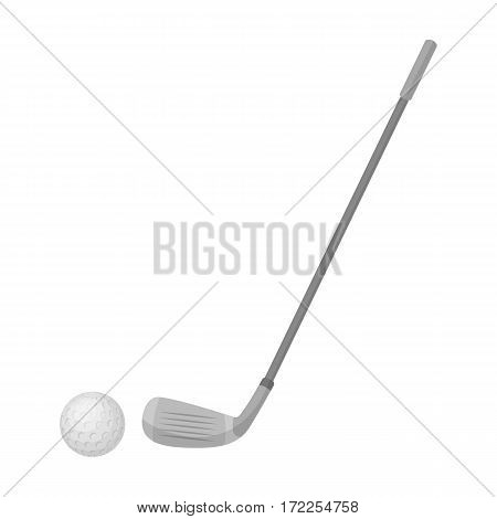 Golf icon in monochrome design isolated on white background. Scotland country symbol stock vector illustration.