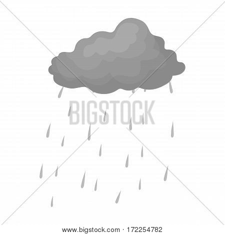 Scottish rainy weather icon in monochrome design isolated on white background. Scotland country symbol stock vector illustration.
