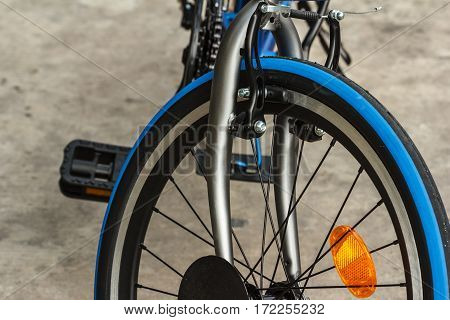 Bicycle  Brakes handle on the front wheel