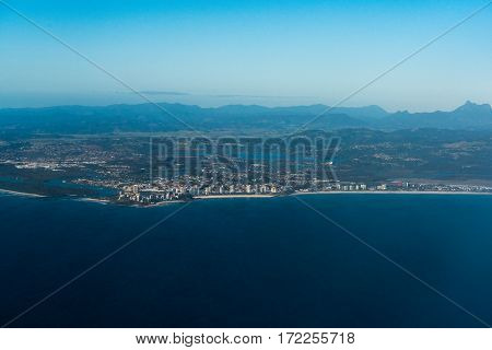Aerial View Of Coolangatta, Gold Coast, Australia