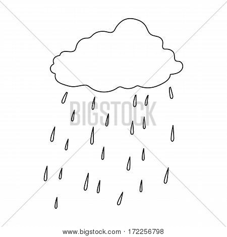 Scottish rainy weather icon in outline design isolated on white background. Scotland country symbol stock vector illustration.
