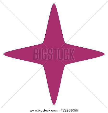 Sparkle Star flat icon. Vector purple symbol. Pictogram is isolated on a white background. Trendy flat style illustration for web site design logo ads apps user interface.