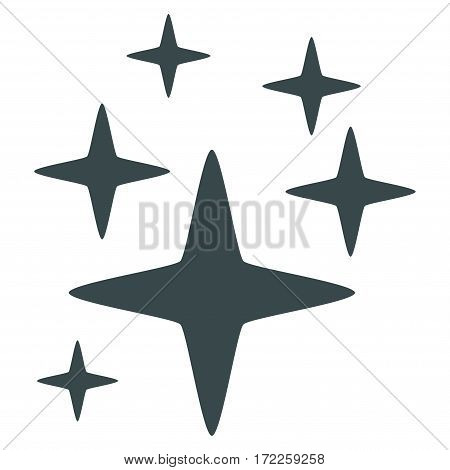 Sparkle Stars flat icon. Vector soft blue symbol. Pictogram is isolated on a white background. Trendy flat style illustration for web site design logo ads apps user interface.