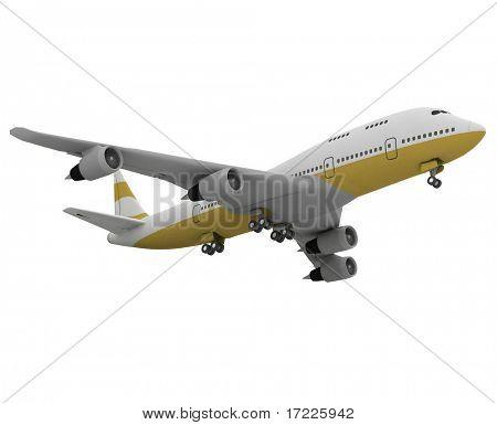 Flugzeug isoliert auf weißem Hintergrund
