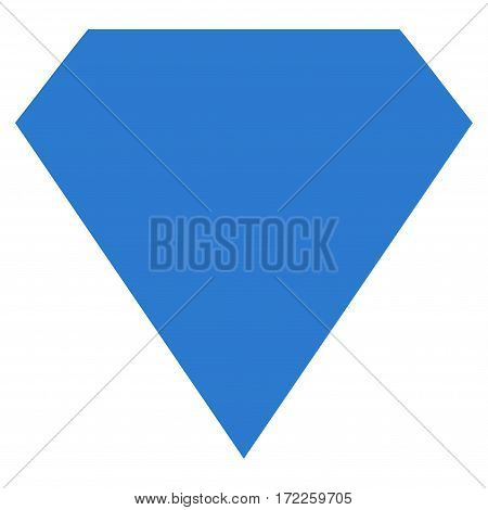 Diamond flat icon. Vector smooth blue symbol. Pictogram is isolated on a white background. Trendy flat style illustration for web site design logo ads apps user interface.