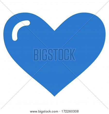 Love Heart flat icon. Vector smooth blue symbol. Pictogram is isolated on a white background. Trendy flat style illustration for web site design logo ads apps user interface.