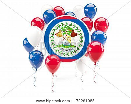 Round Flag Of Belize With Balloons