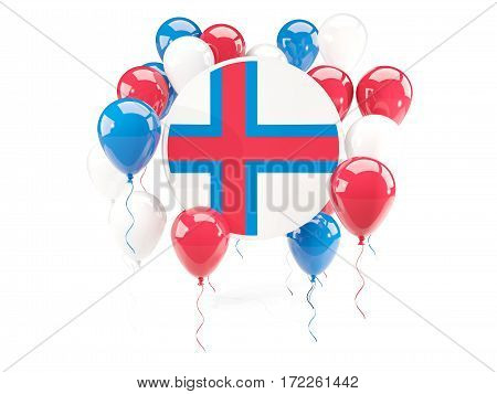 Round Flag Of Faroe Islands With Balloons