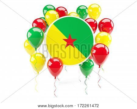 Round Flag Of French Guiana With Balloons