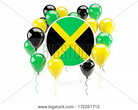 Round Flag Of Jamaica With Balloons