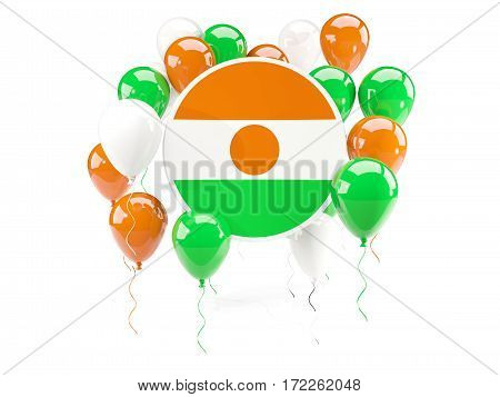 Round Flag Of Niger With Balloons