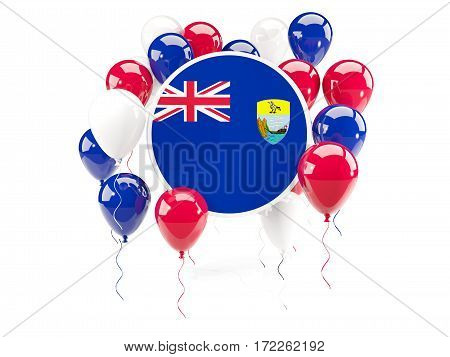 Round Flag Of Saint Helena With Balloons