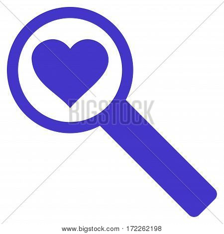 Find Love flat icon. Vector violet symbol. Pictograph is isolated on a white background. Trendy flat style illustration for web site design logo ads apps user interface.