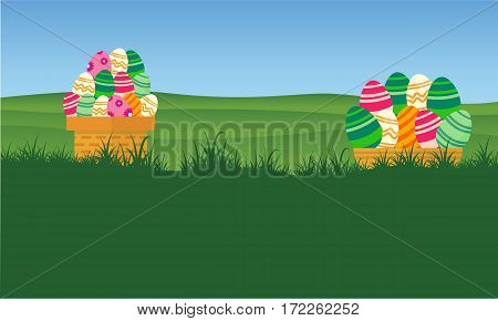 Collection stock of easter egg style backgrounds vector art