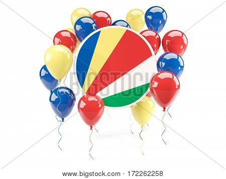 Round Flag Of Seychelles With Balloons