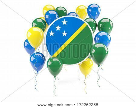 Round Flag Of Solomon Islands With Balloons