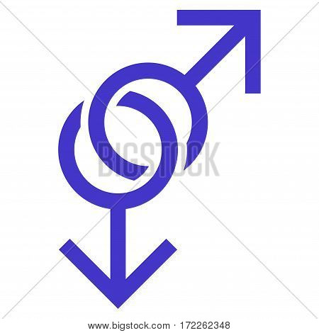 Gay Love Symbol flat icon. Vector violet symbol. Pictogram is isolated on a white background. Trendy flat style illustration for web site design logo ads apps user interface.