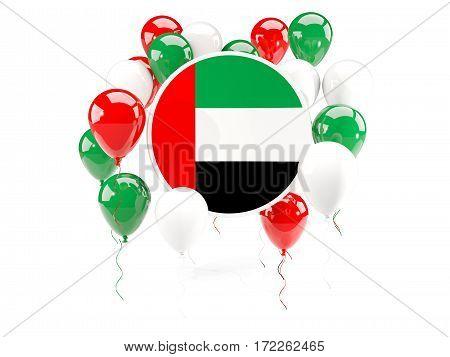 Round Flag Of United Arab Emirates With Balloons