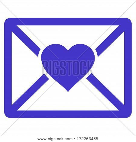 Love Letter flat icon. Vector violet symbol. Pictograph is isolated on a white background. Trendy flat style illustration for web site design logo ads apps user interface.