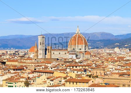 Florence Aerial View, Tuscany, Italy