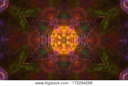 colorful kaleidoscope multi color star pattern background