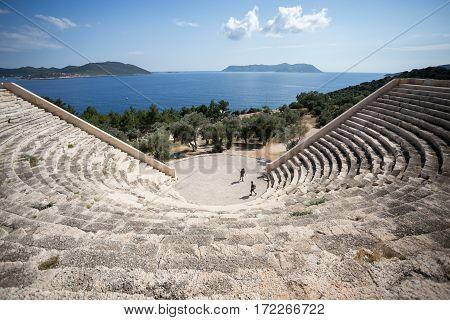 Antique Ancient Amphitheatre In Kash