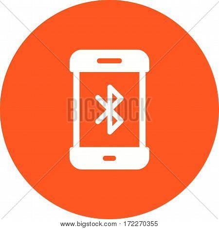 Bluetooth, sharing, transfer icon vector image. Can also be used for smartphone. Suitable for use on web apps, mobile apps and print media.