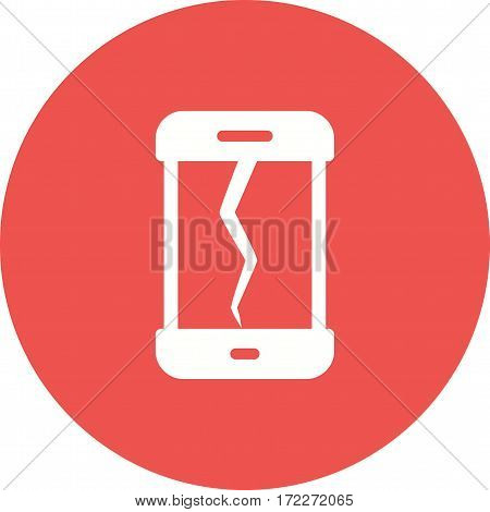 Phone, broken, screen icon vector image. Can also be used for smartphone. Suitable for mobile apps, web apps and print media.