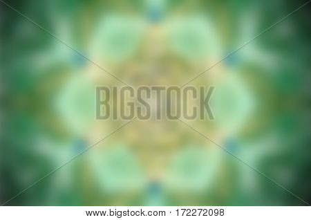 Green, white and blue abstract blurred background