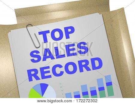 Top Sales Record Concept