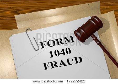 Form 1040 Fraud Concept