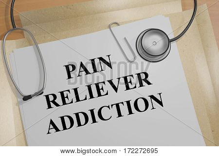 Pain Reliever Addiction - Medical Concept