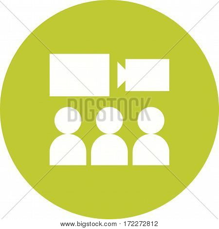 Video, wall, media icon vector image. Can also be used for museum. Suitable for mobile apps, web apps and print media.