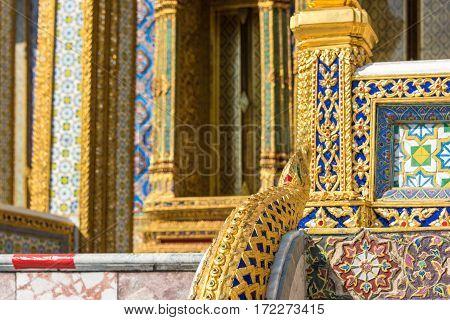 Beautiful Decorations Of Grand Palace. Bangkok, Thailand