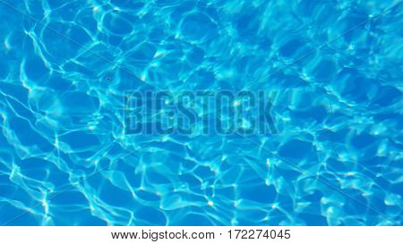 Light Blue ripped water in swimming pool