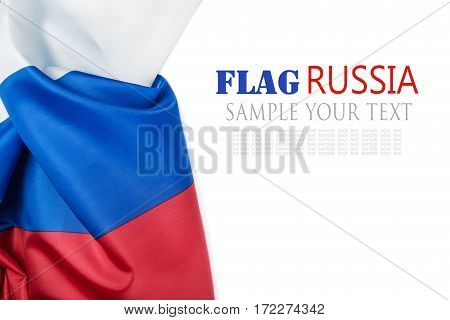 Russia flag background. tricolor isolated on white background. Text delete