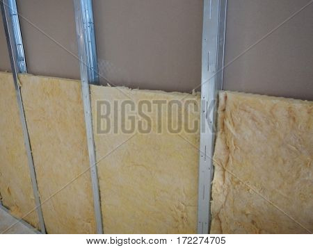 Reconstruction Of A Partitioning System With Rock Wool Isolation