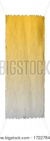 Concept or conceptual old vintage brown golden paper background aged texture isolated on white vertical banner