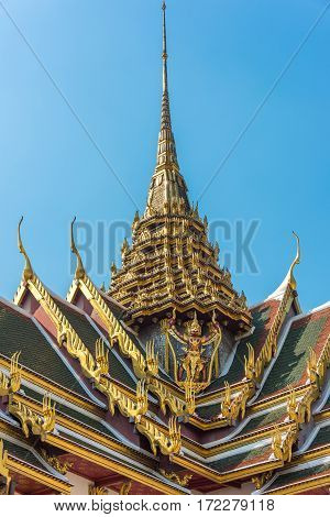 Traditional Roof Design Of Thai Temple, Palace