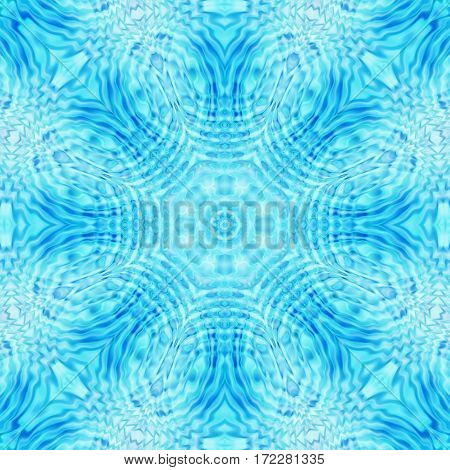 Abstract broght blue background with concentric ripples pattern