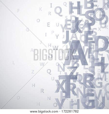 Vector Abstract Alphabet on white background in confusion