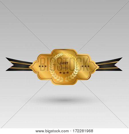 Gold Label Design Quality Vector Eps 10