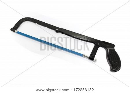 Metal Hack Saw On Isolated White Background