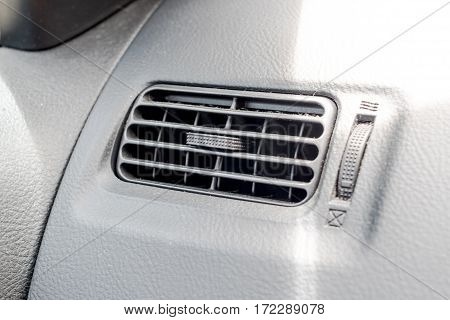 Close up car air conditioning  in auto