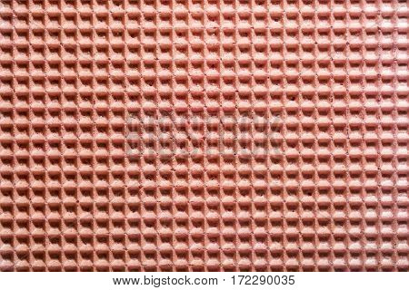 Background and texture of the surface of the wafer confectionery pink