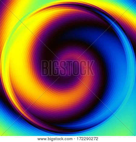 Abstract Background. Spiral image in a lowpoly style