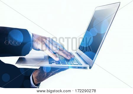 Laptop And Bokeh