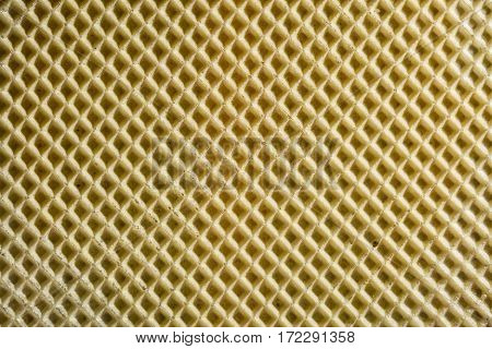 Background and texture of the surface of the wafer confectionery yellow