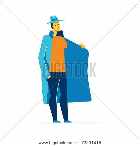 Vector Male Character Illustration In Flat Style